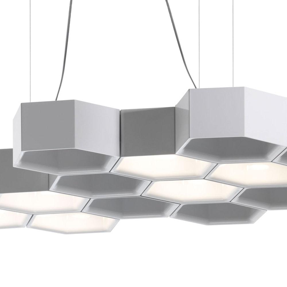 Luceplan Honeycomb LED Hängeleuchte mit 12 Waben 3000K Weiß thumbnail 5