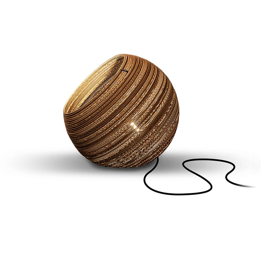 Think Paper Globe Bodenleuchte aus Pappe 3