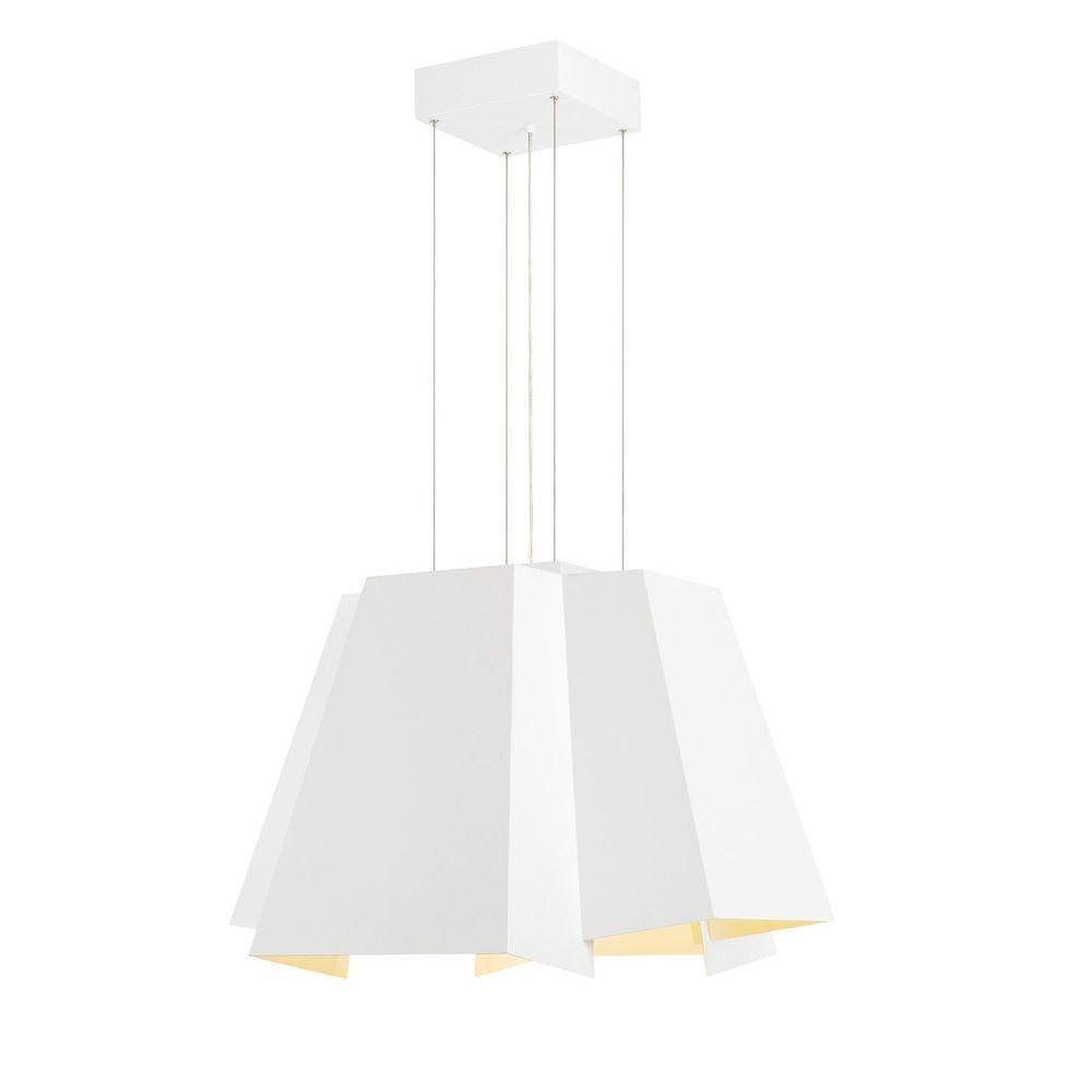 SLV Soberbia LED Pendelleuchte eckig Weiß 2700K 2