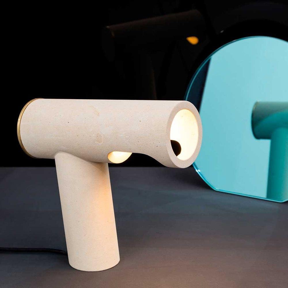 Pulpo LED Tischlampe Simple Light aus Kalkstein thumbnail 4