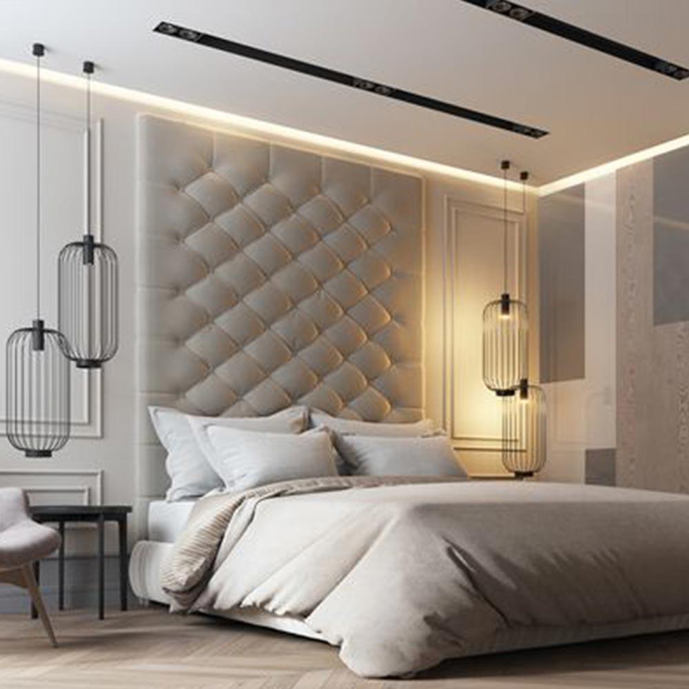 s.LUCE Rooms M direkt & indirekte Gitter-Pendelleuchte Ø30cm 2