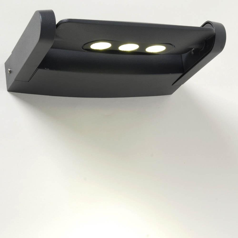 Mini LED Spot einstellbare Außenwandleuchte IP65 Anthrazit thumbnail 5