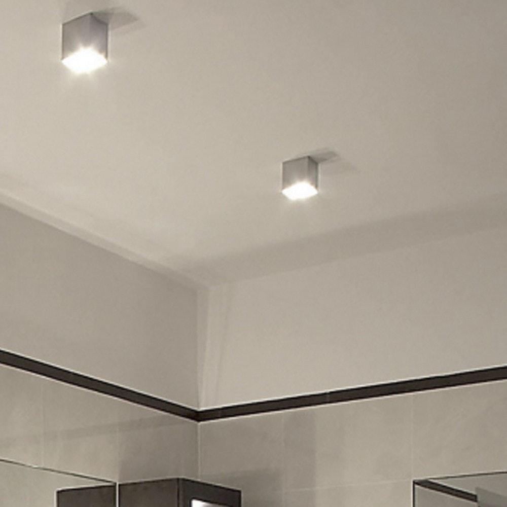 s.LUCE Madras Aufbau-Deckenleuchte Ø 8cm Alu-Gebürstet 3