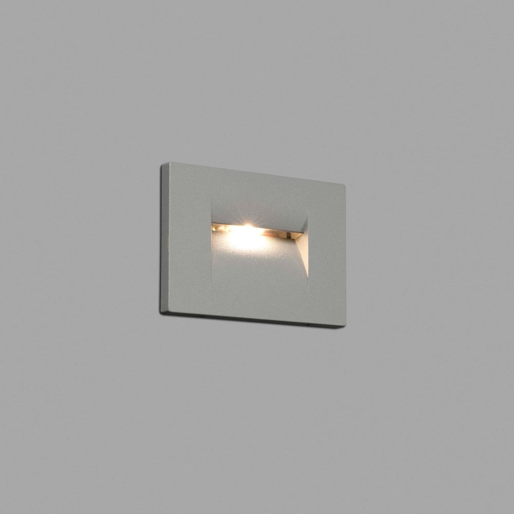LED Wand-Einbauleuchte HORUS-1 3000K IP65 Grau 1
