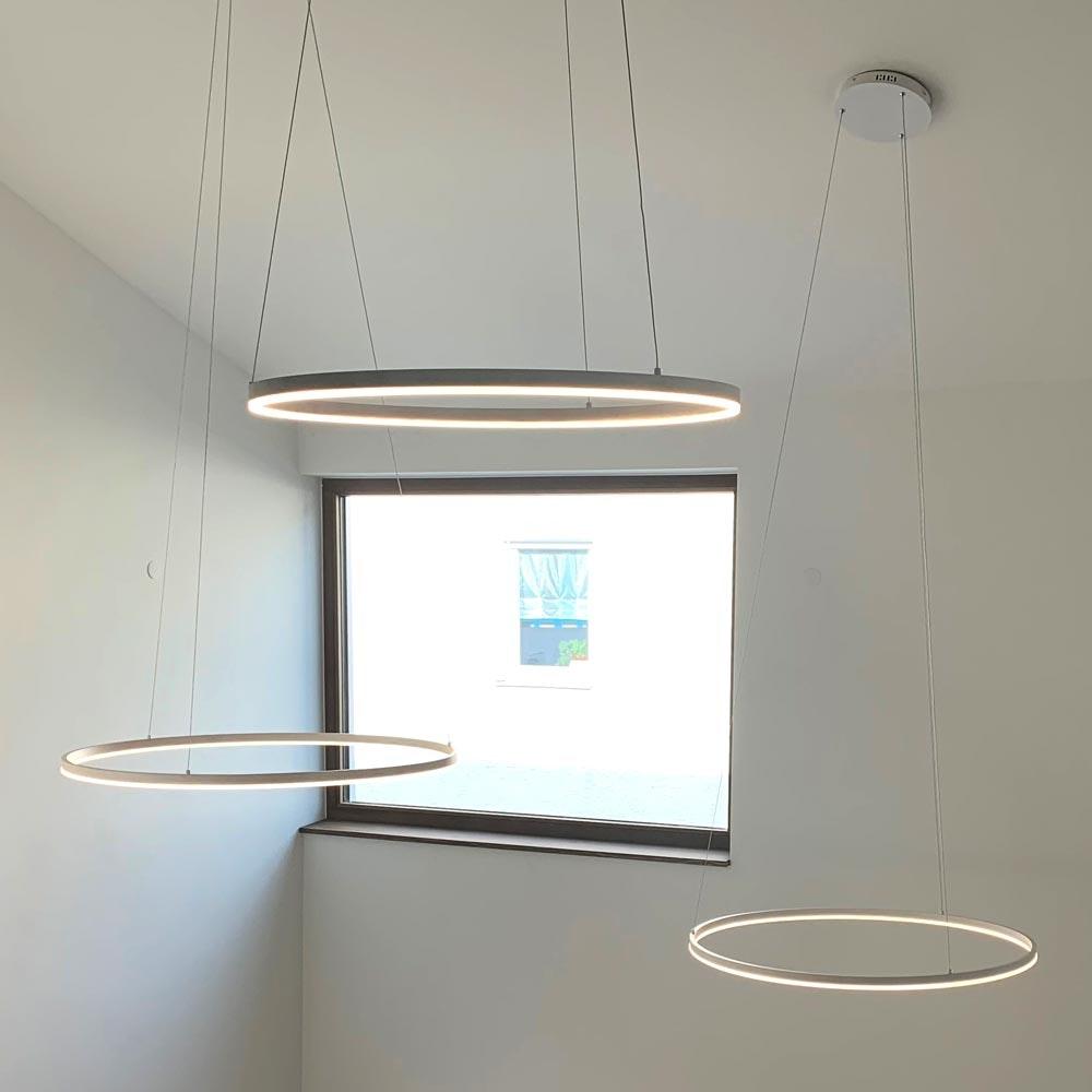 s.LUCE Ring 100 LED Hängelampe Dimmbar 25