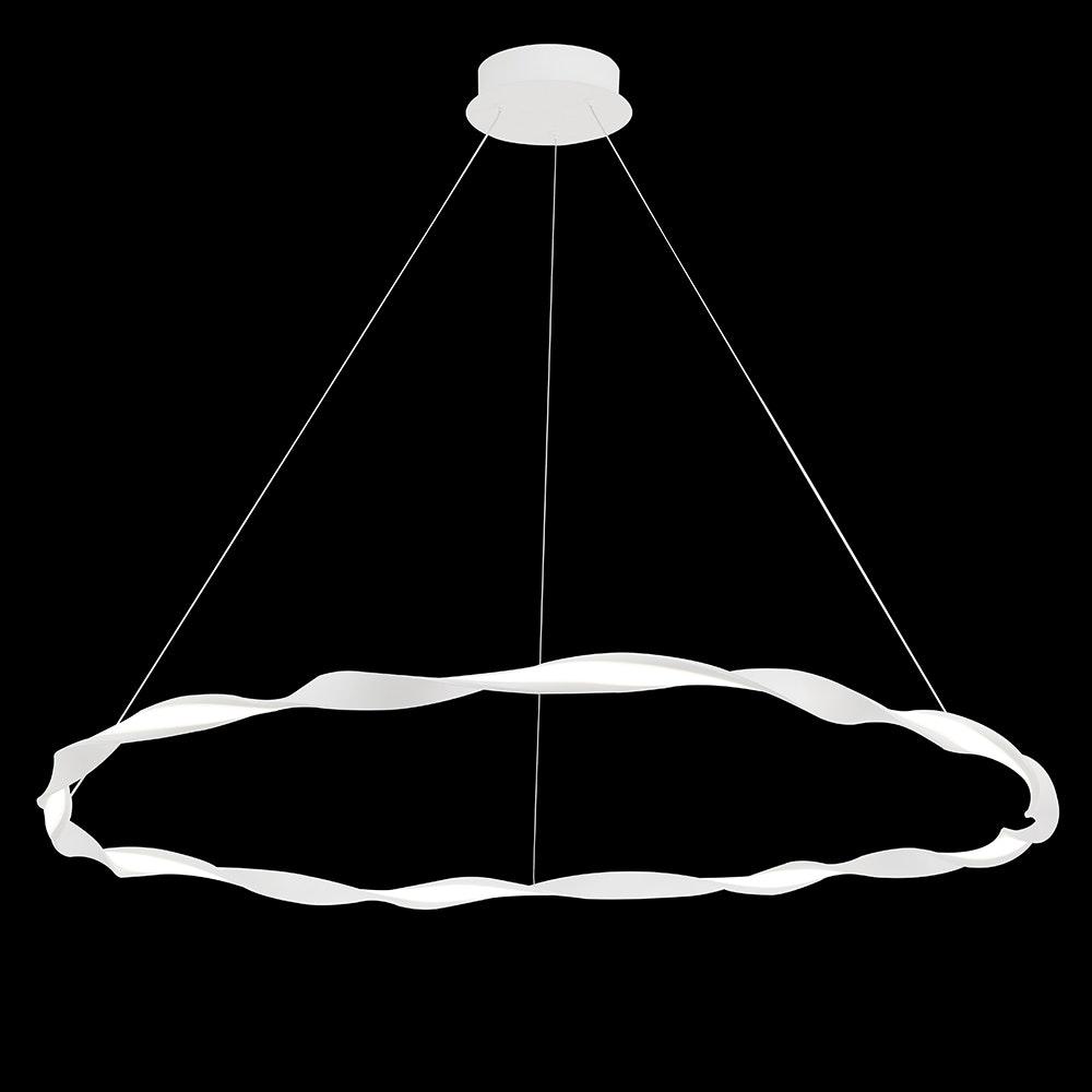 Mantra Madagascar LED-Pendelleuchte Weiß Rund 1