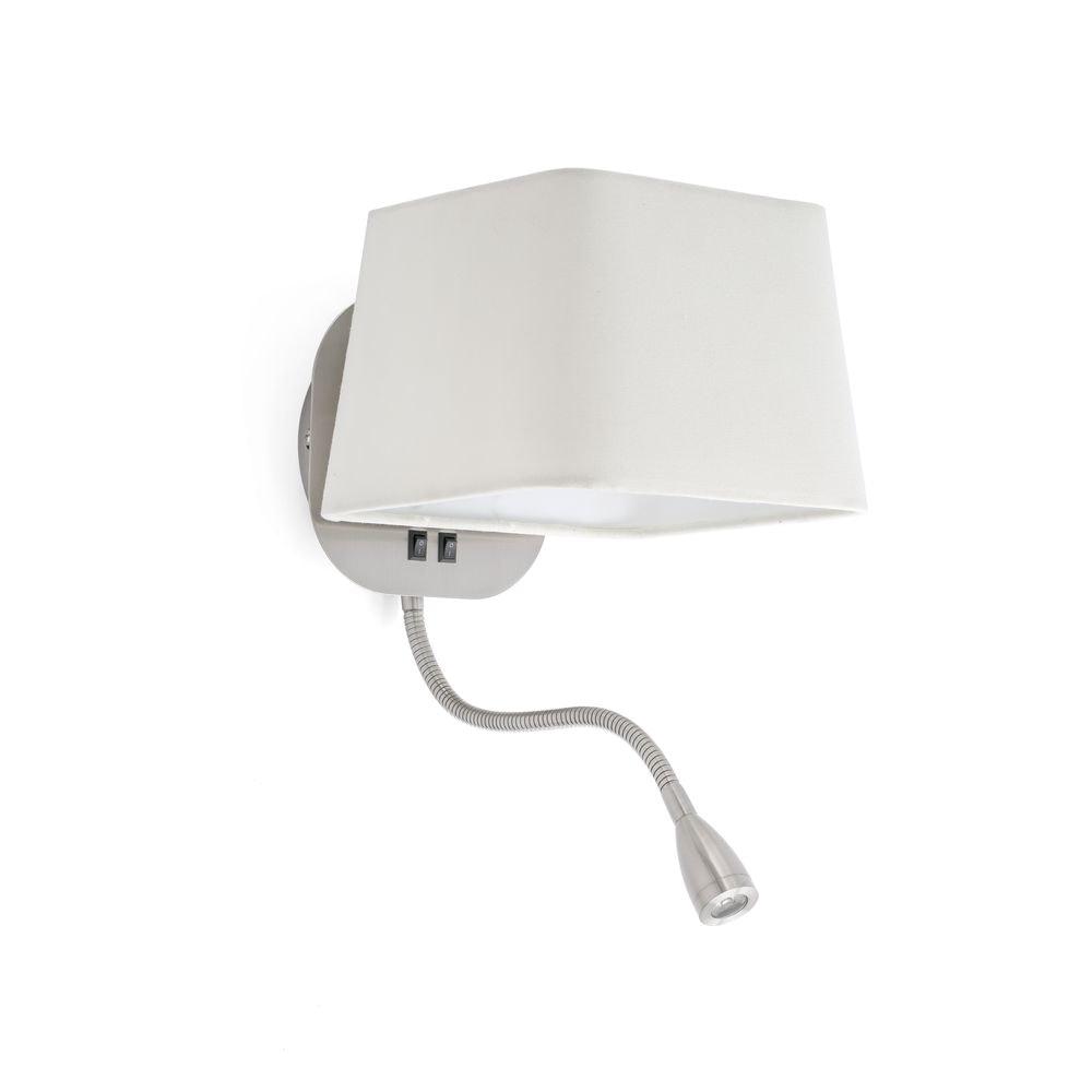 Wandleuchte SWEET mit LED-Leselampe IP20 Weiß