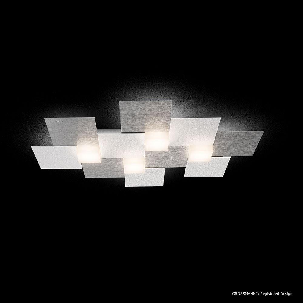 Creo LED-Deckenleuchte 4-flammig 55 x 38cm Alu-matt 2