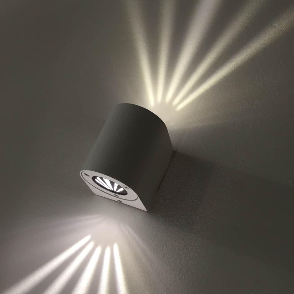 Baleno Aussen LED-Wandlampe + Lichtfilter Grau thumbnail 4