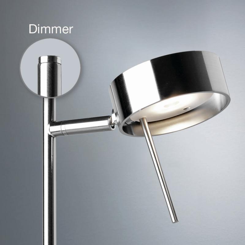 Bling LED Stehleuchte mit Dimmer Chrom-Matt 2