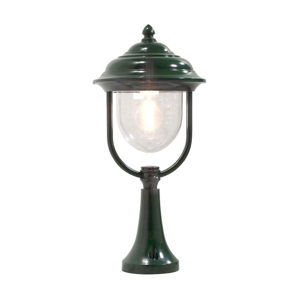 Parma Sockelleuchte Grün, klares Acrylglas