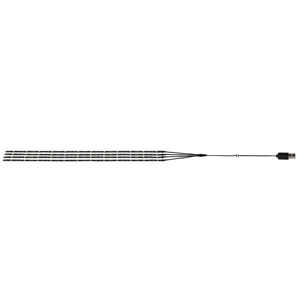 Akku LED-Strip für Sonnenschirm IP44 3000K 4x0, 4m USB 2