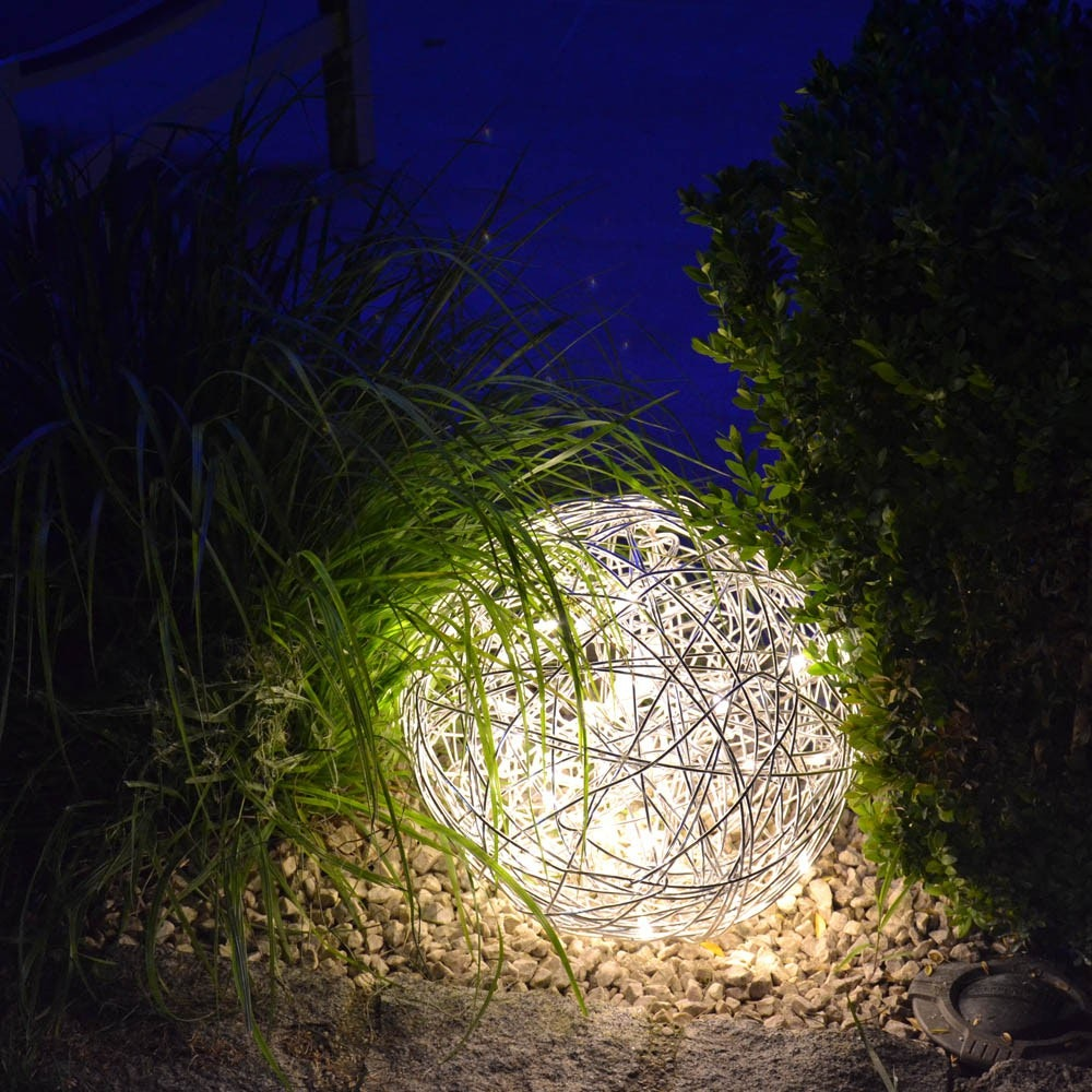 s.LUCE Mesh L LED-Drahtkugel Ø 50cm Innen & Aussen Warmweiß 2