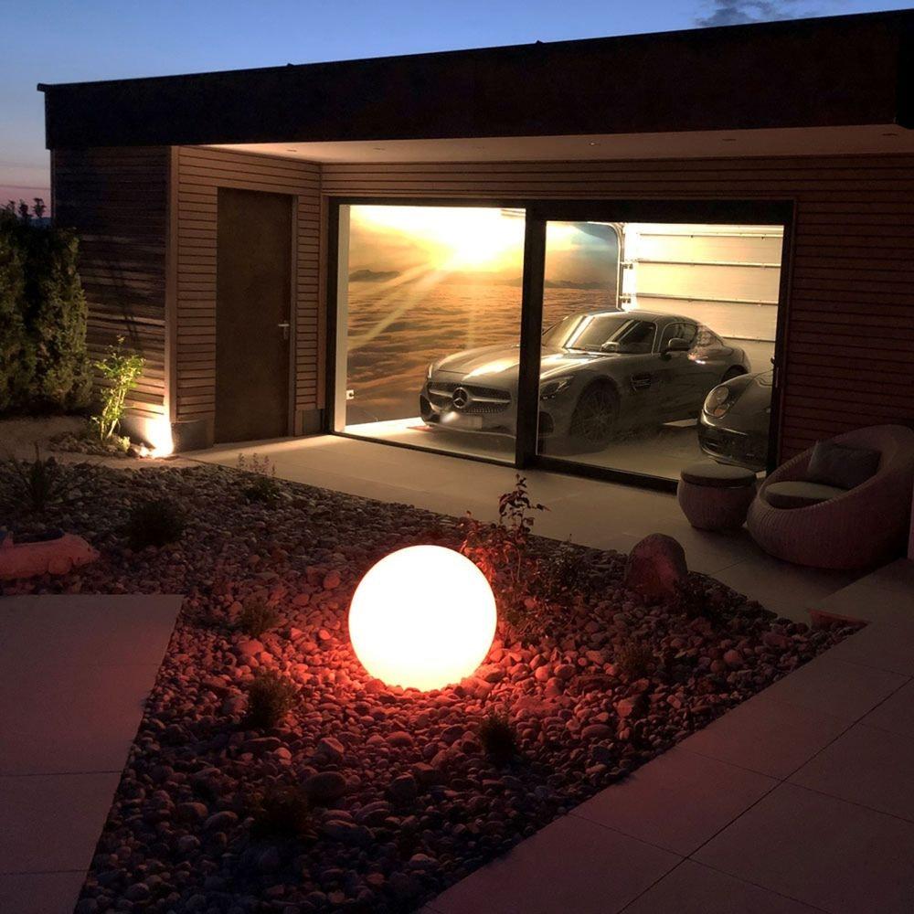 s.LUCE pro Globe+ langlebige Garten Aussenkugel Weiß 10