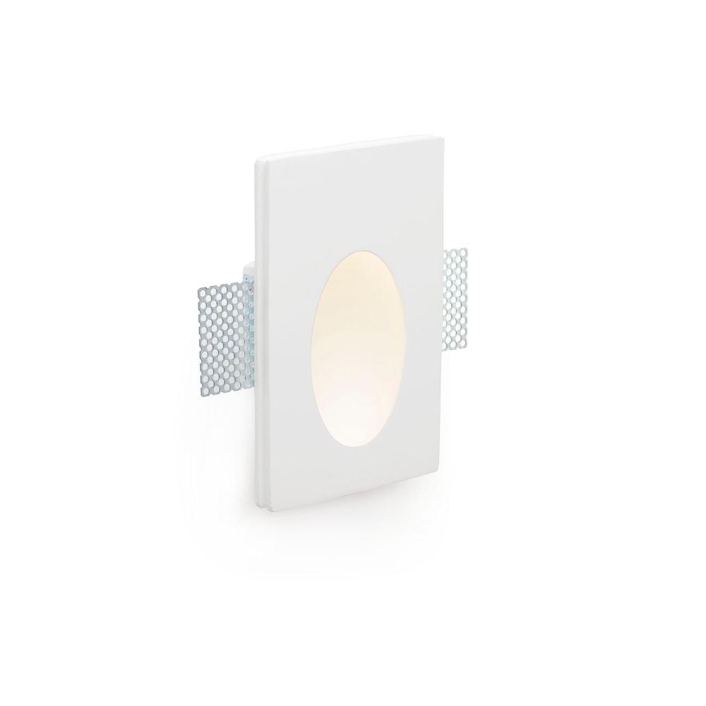 LED Wand-Einbauleuchte PLAS-1 1W 3000K Weiß 2