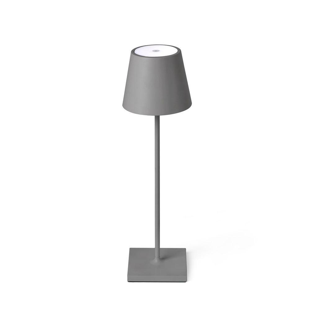 LED Außen-Tischleuchte Qutarg mit Akku IP54 Dimmbar Grau 1