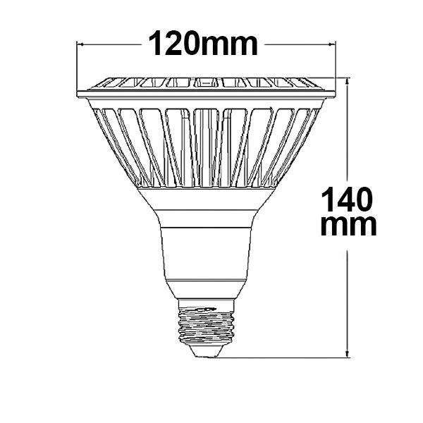 LED PAR38 E27 230V 16W 30° warmweiß dimmbar 4
