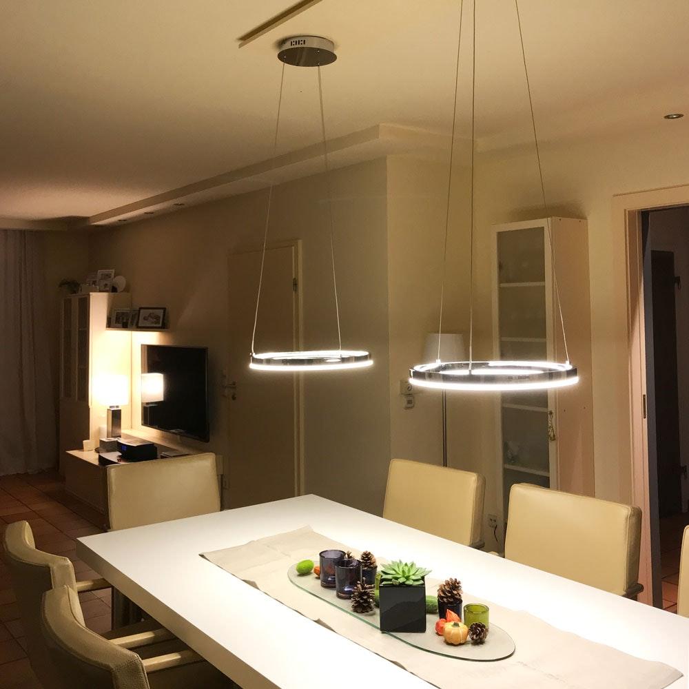 s.LUCE pro LED-Hängeleuchte Ring S 2.0 Ø 40cm + 5m Abhängung Dimmbar thumbnail 6