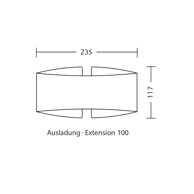 Holtkötter LED-Wandlampe VOILÀ Fumé matt Dimmbar 800lm 2700K 4
