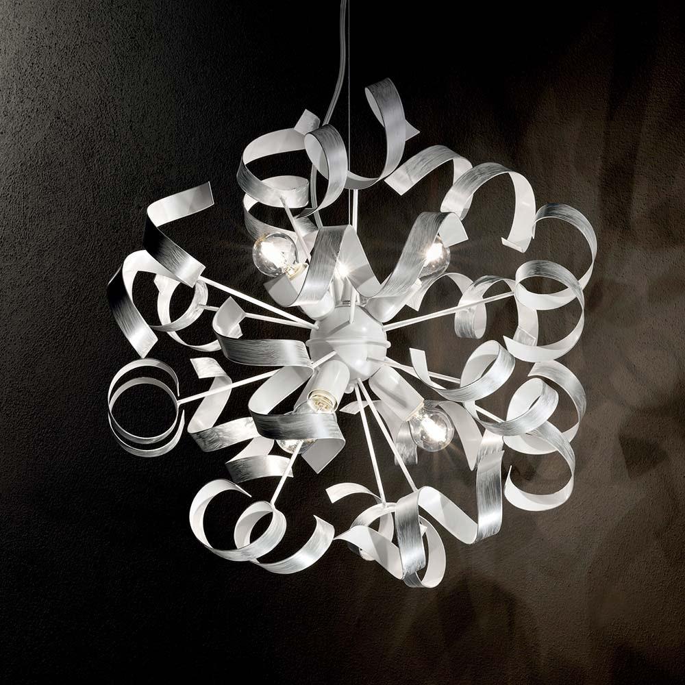 Ideal Lux Hängeleuchte Vortex Sp6 Silberfarben