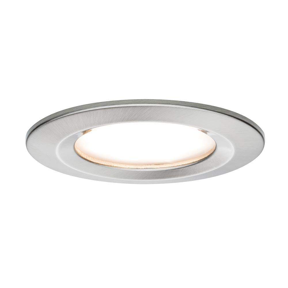 3er LED Einbauleuchten-Set Coin Slim IP44 rund 6,8W Eisen 1