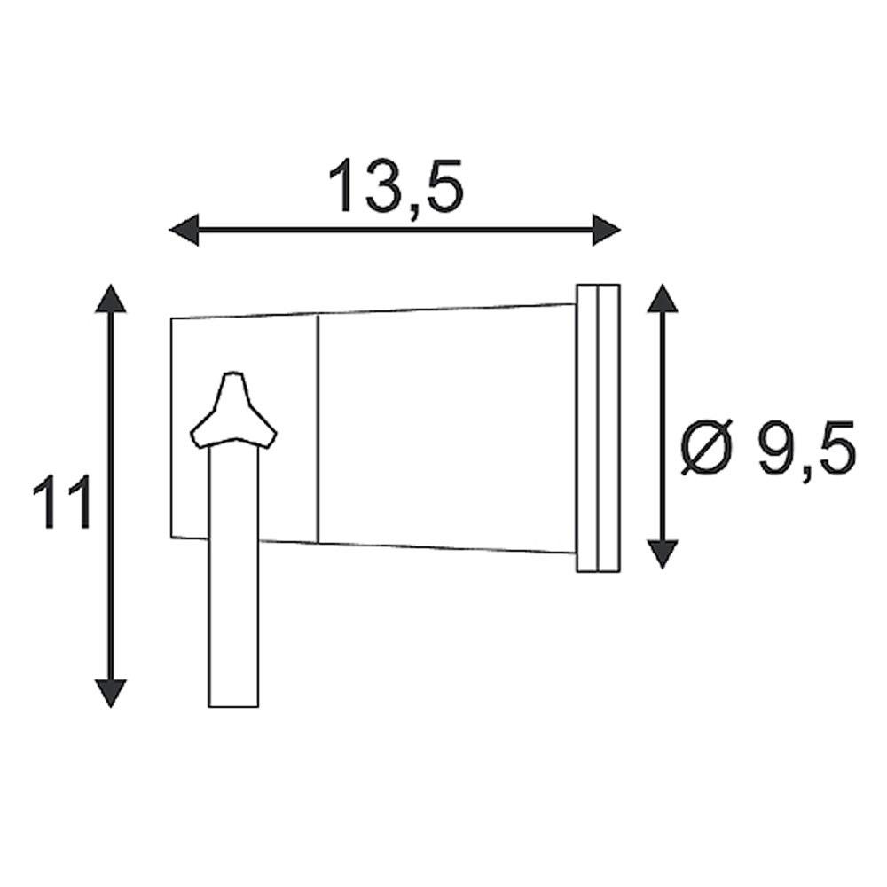 SLV Nautilus Spike XL Strahler inkl. 1,5m Kabel mit Stecker Schwarz 3