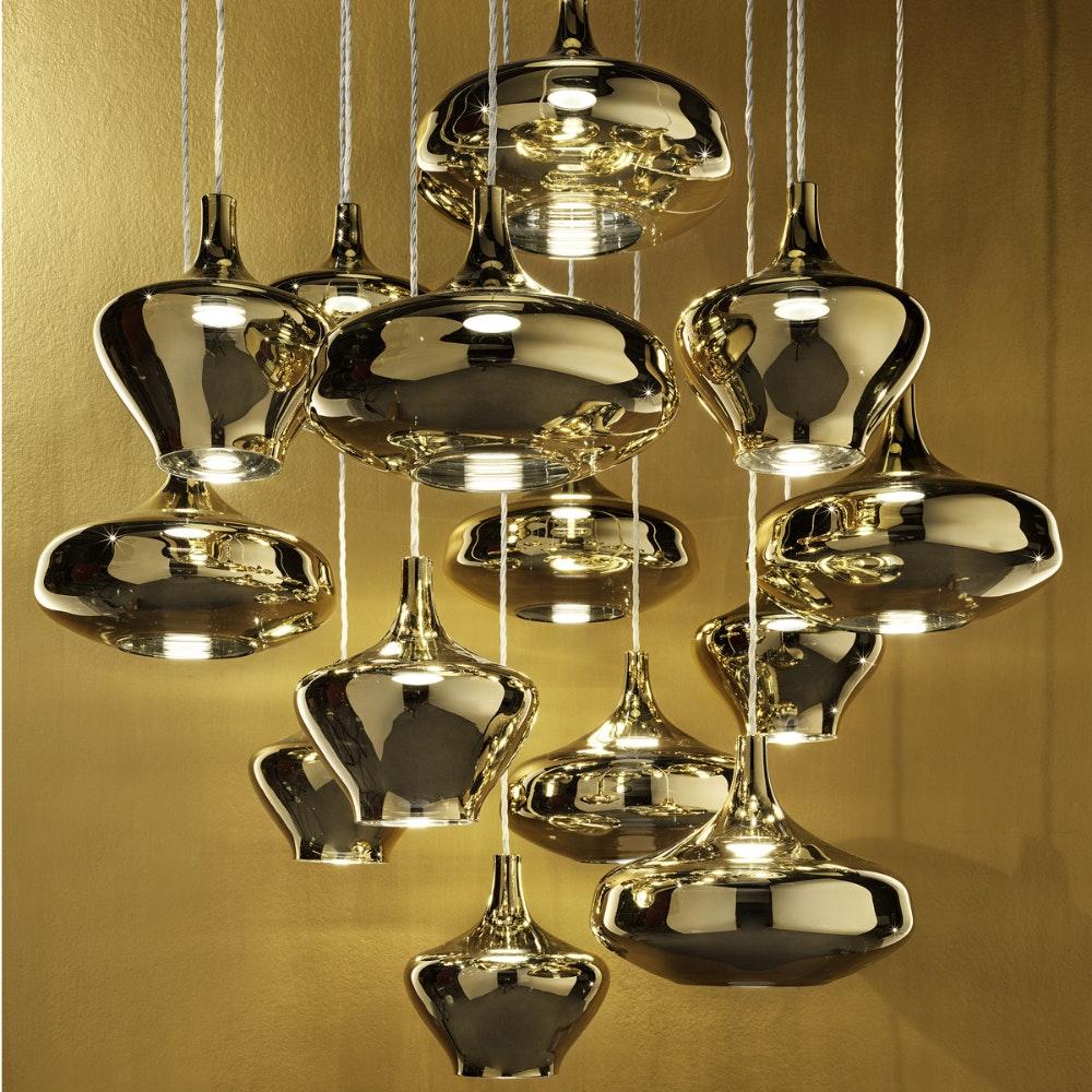 Studio Italia Design Nostalgia Glass Medium 20cm LED Hängeleuchte