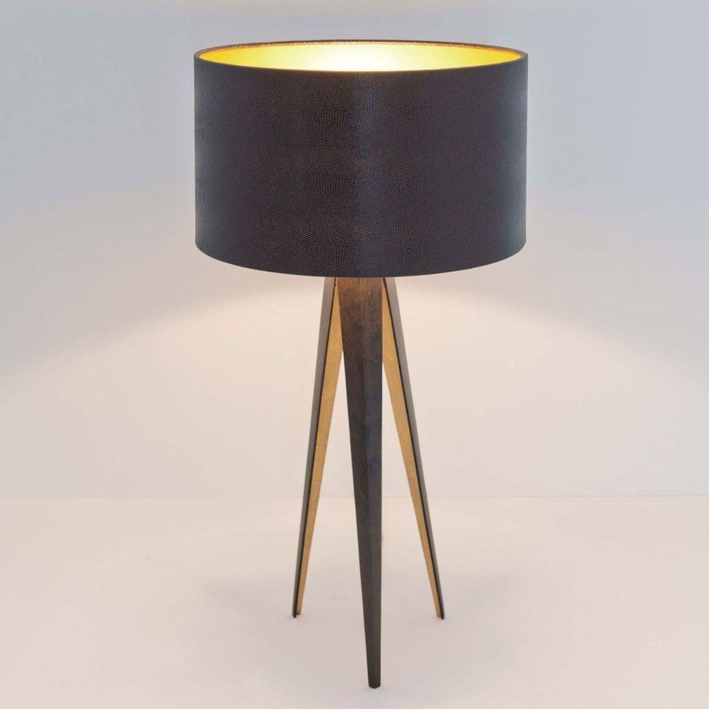 Tischleuchte Petra Eisen Braun-Schwarz-Gold 1
