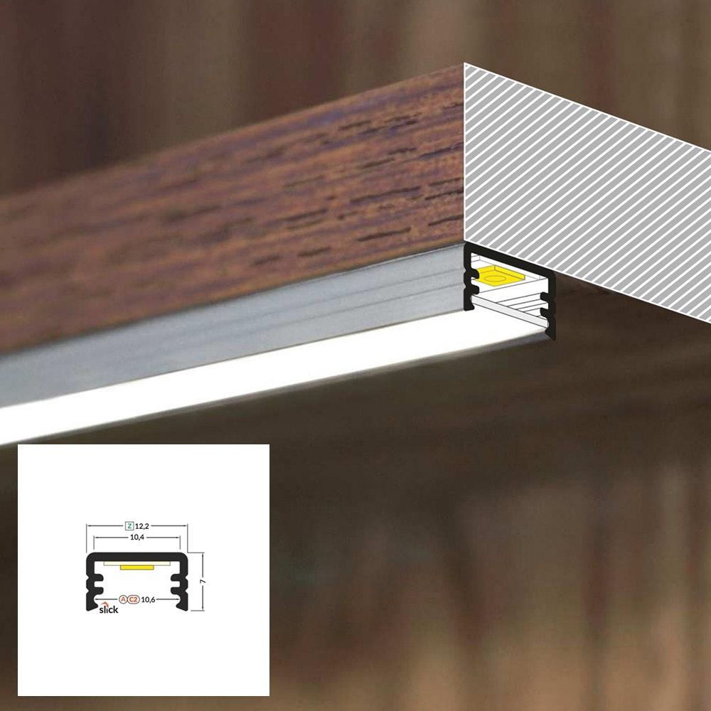 LED Aluminium Profil 2m alle Varianten  5