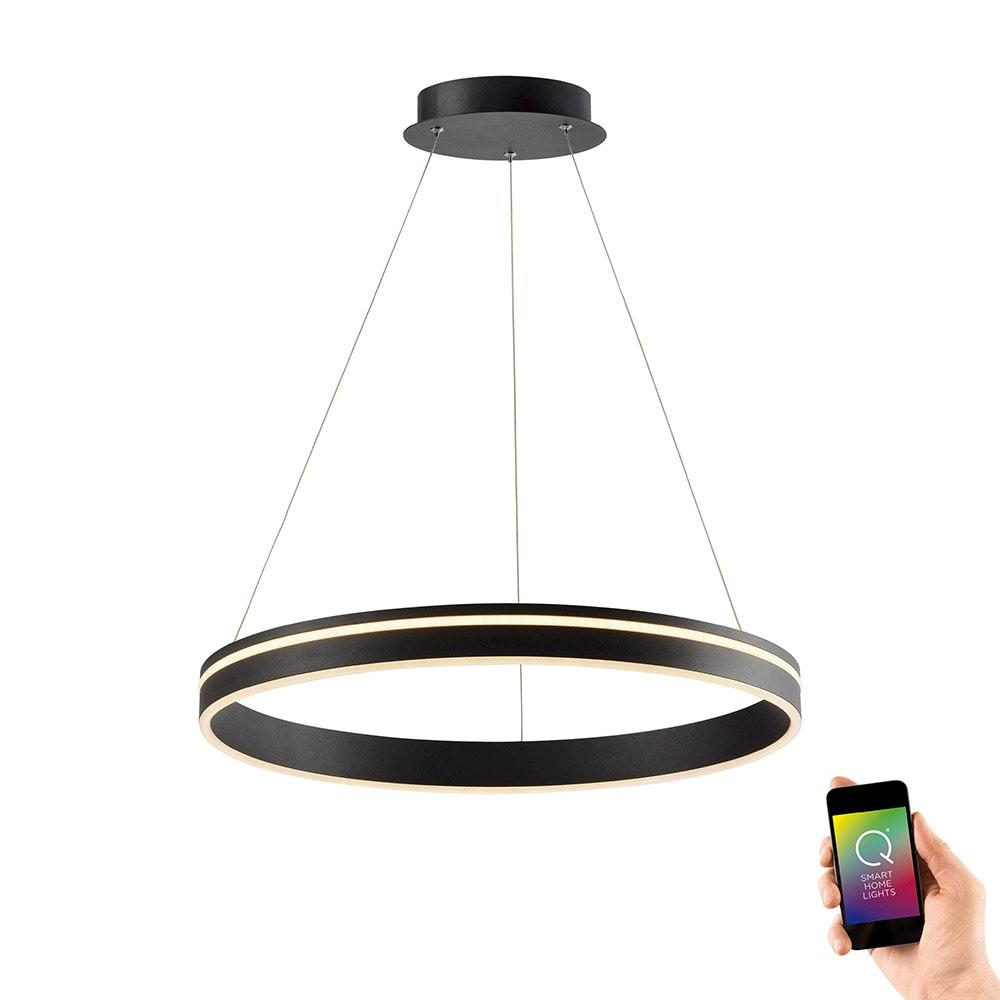 LED Hängelampe Q-Vito Ø59cm CCT Anthrazit 1