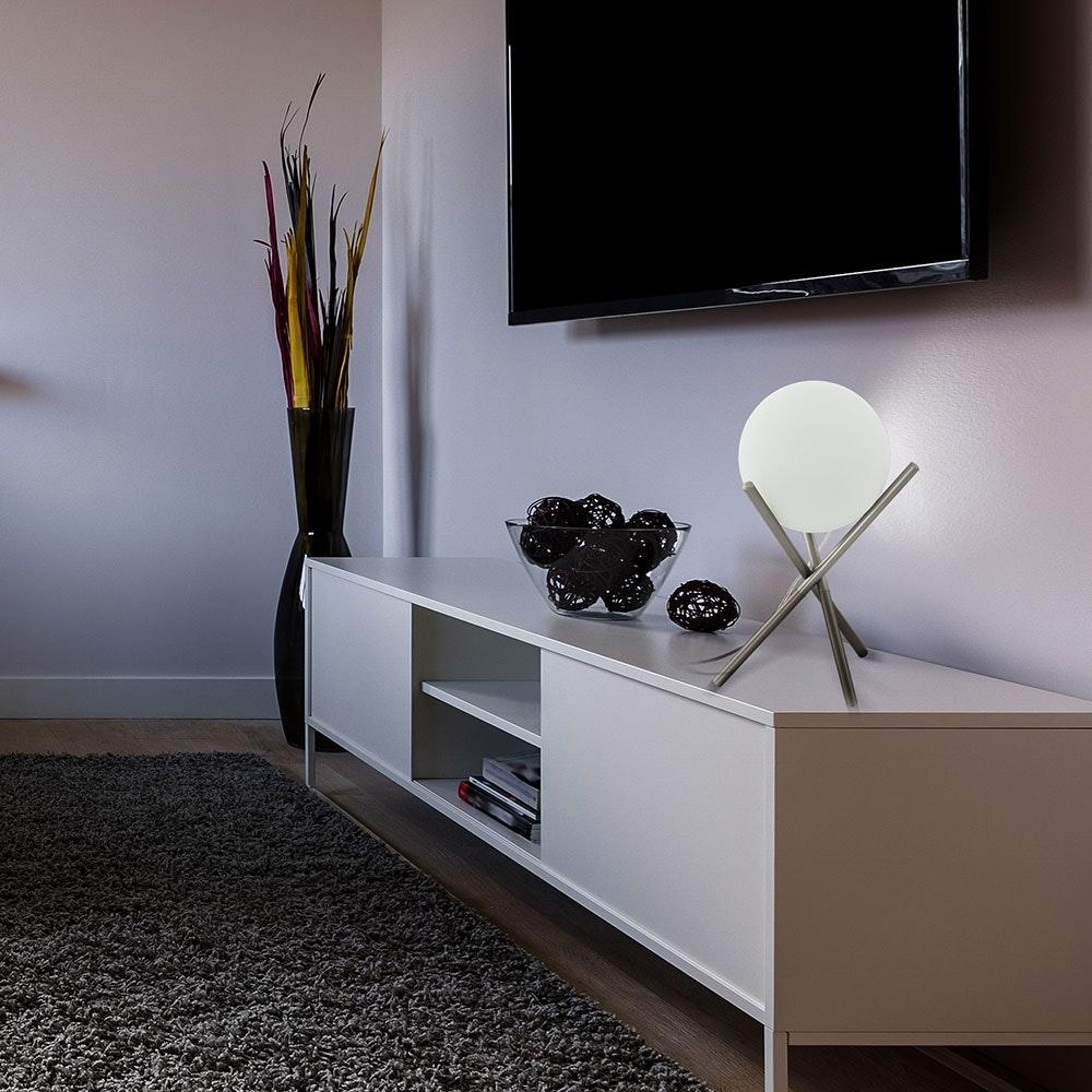 Licht-Trend Tischlampe Londrina Champagner, Weiß