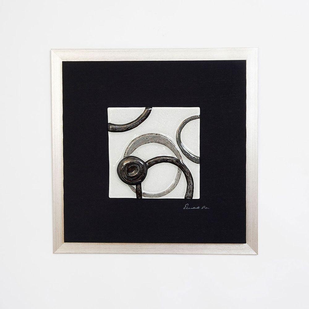 Wandbild Radiografa Holz-Leinwand-Glas Schwarz-Silber-Grau 1