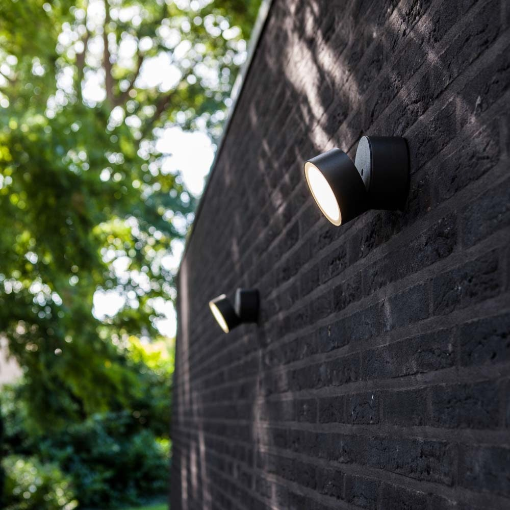Trumpet L 90° schwenkbare LED-Außenwandleuchte IP54 Anthrazit thumbnail 3