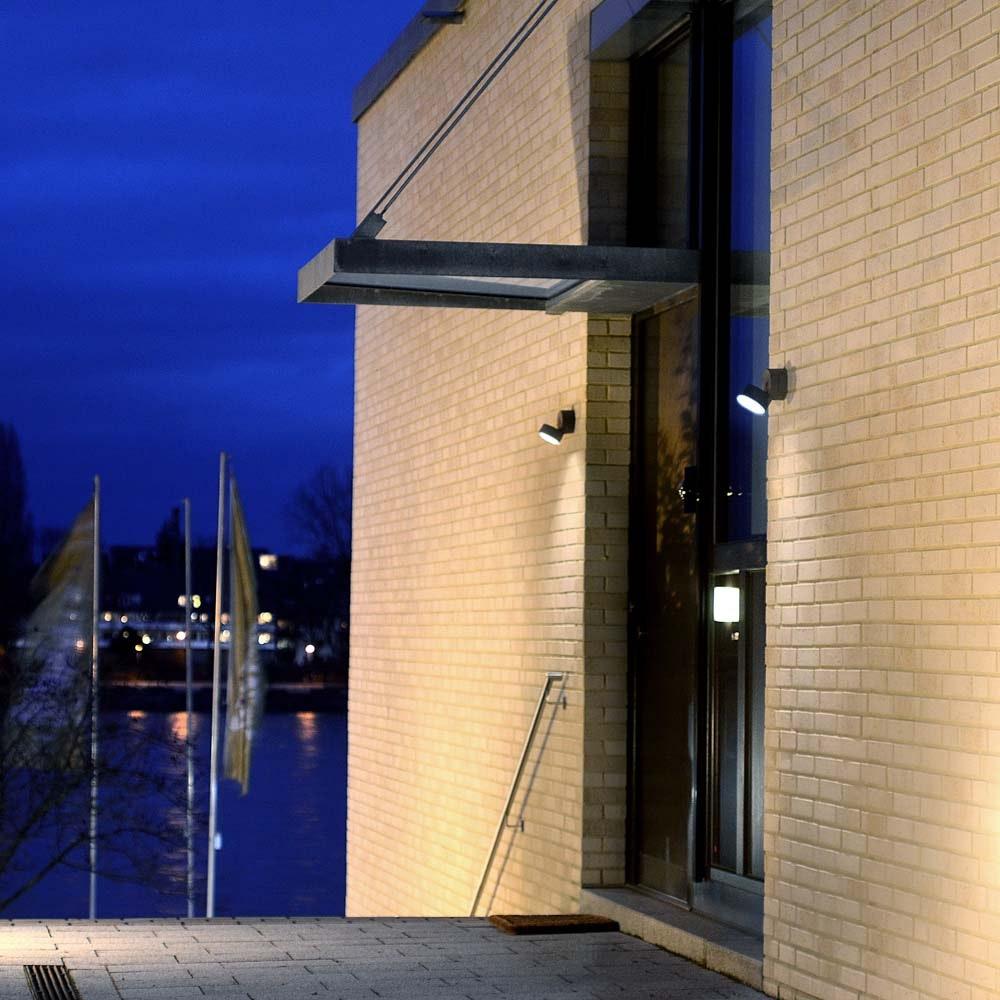 Trumpet L 90° schwenkbare LED-Außenwandleuchte IP54 Anthrazit thumbnail 5