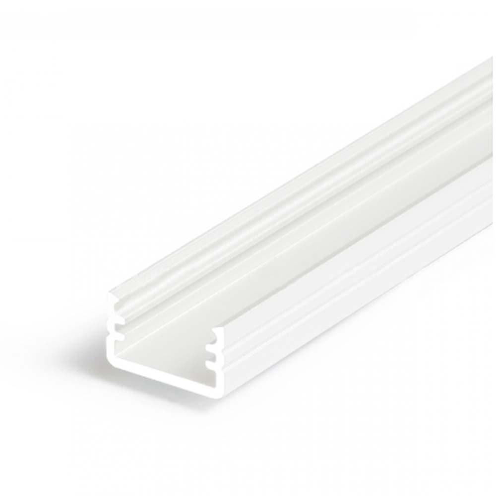 Aufbauprofil mini 200cm Weiß ohne Abdeckung für LED-Strips