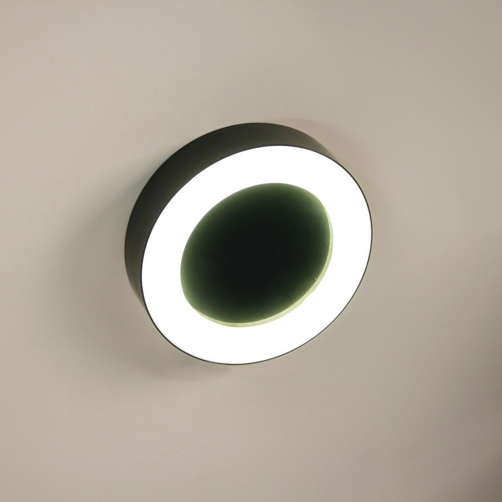 s.LUCE Hole LED-Aussenleuchte Ø 20cm Wand & Decke 10W Anthrazit 4