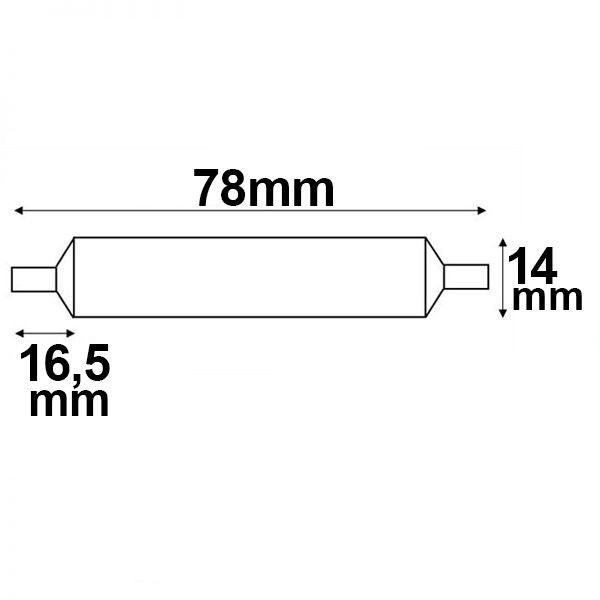 R7s LED Stab Warmweiß 78mm 360° 500lm 5W 4