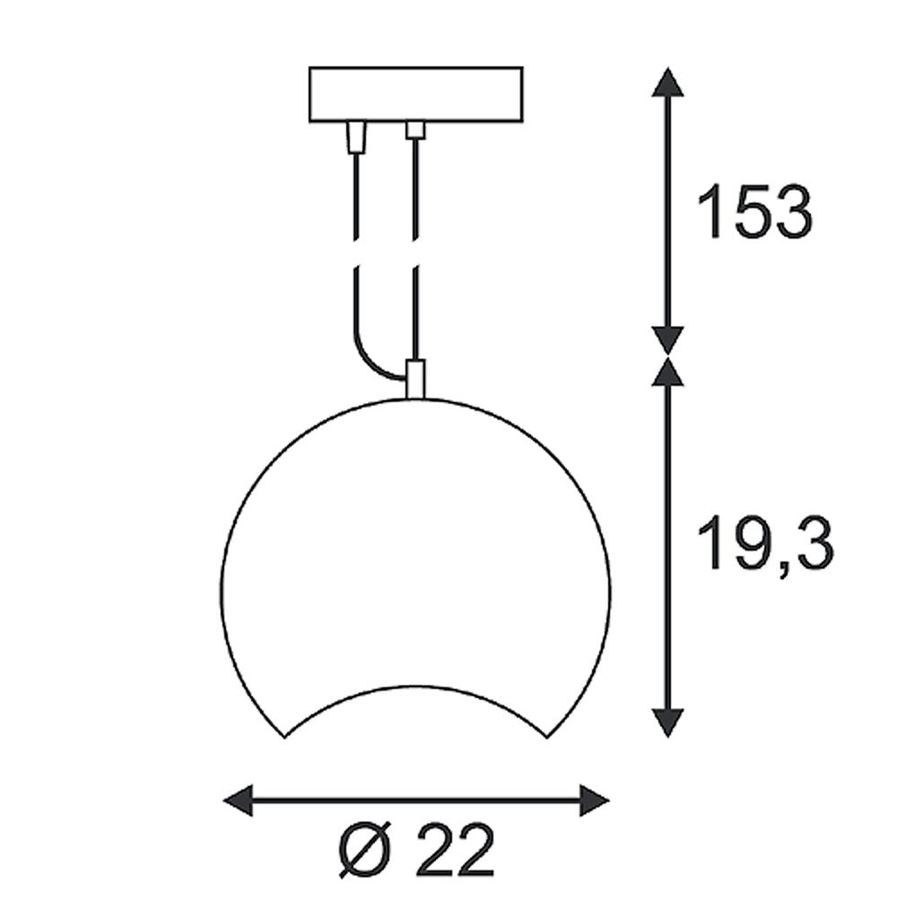 SLV Plastra Pendelleuchte PD-1 weisser Gips GX53 max. 9W thumbnail 3