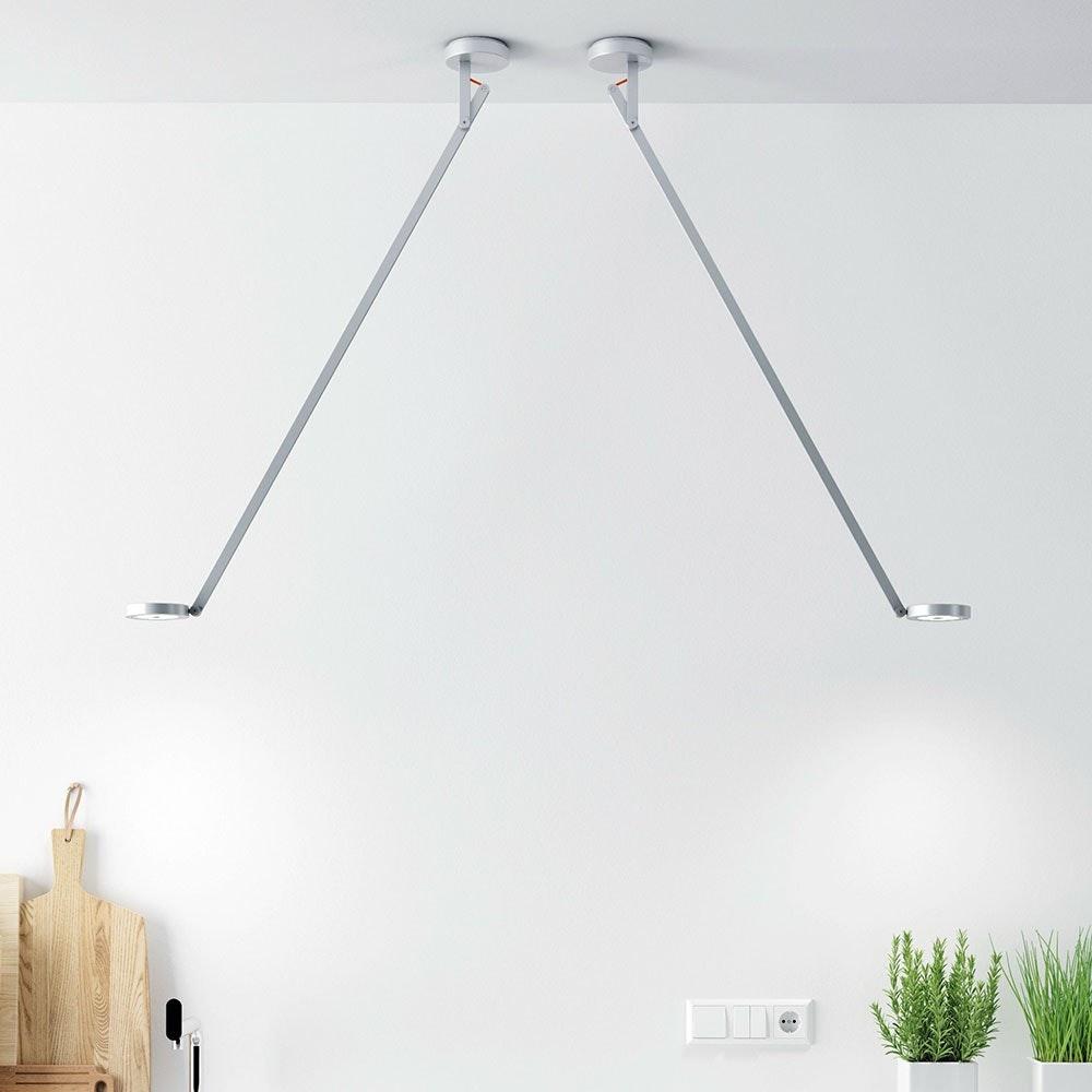 String LED-Deckenleuchte mit Dimmer Silber 2