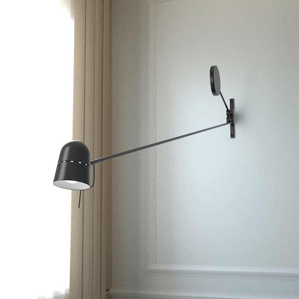 Luceplan LED Wandstrahler Counterbalance mit Gegengewicht 190cm 3