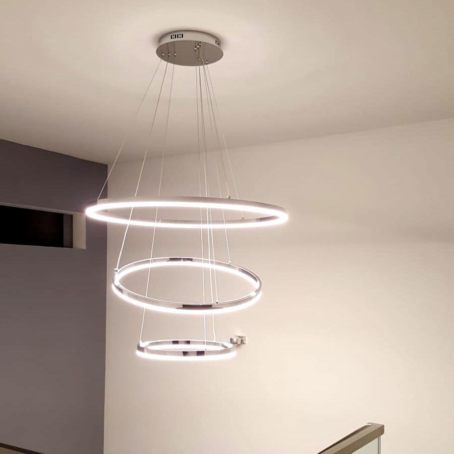 s.LUCE Ring 60 LED-Hängeleuchte 5m Abhängung 8