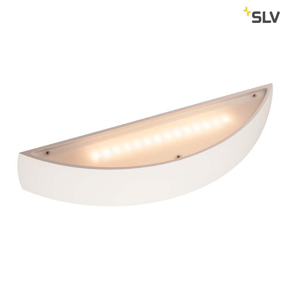 SLV Plastra Gips Wandleuchte LED 3000K Gewölbt Up/Down Dimmbar 6