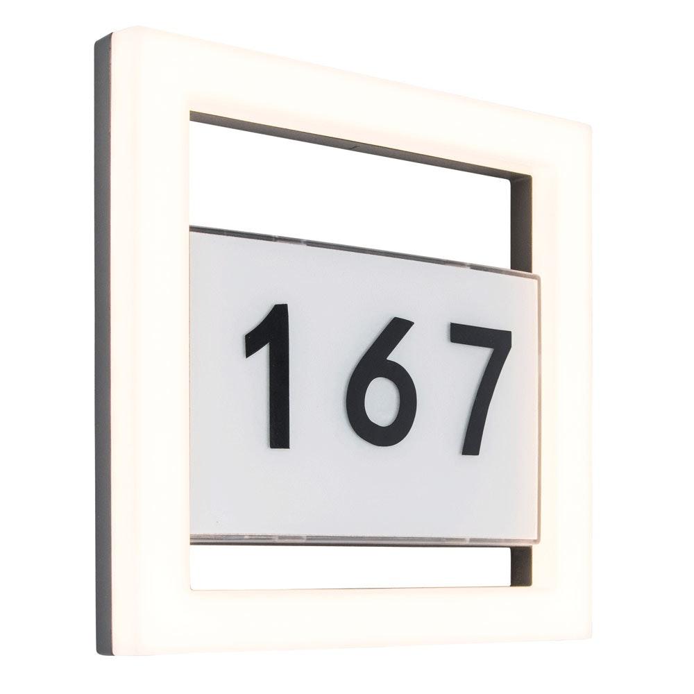Alice LED-Außenwandleuchte mit Hausnummer IP44 800lm Anthrazit 5194301118 2