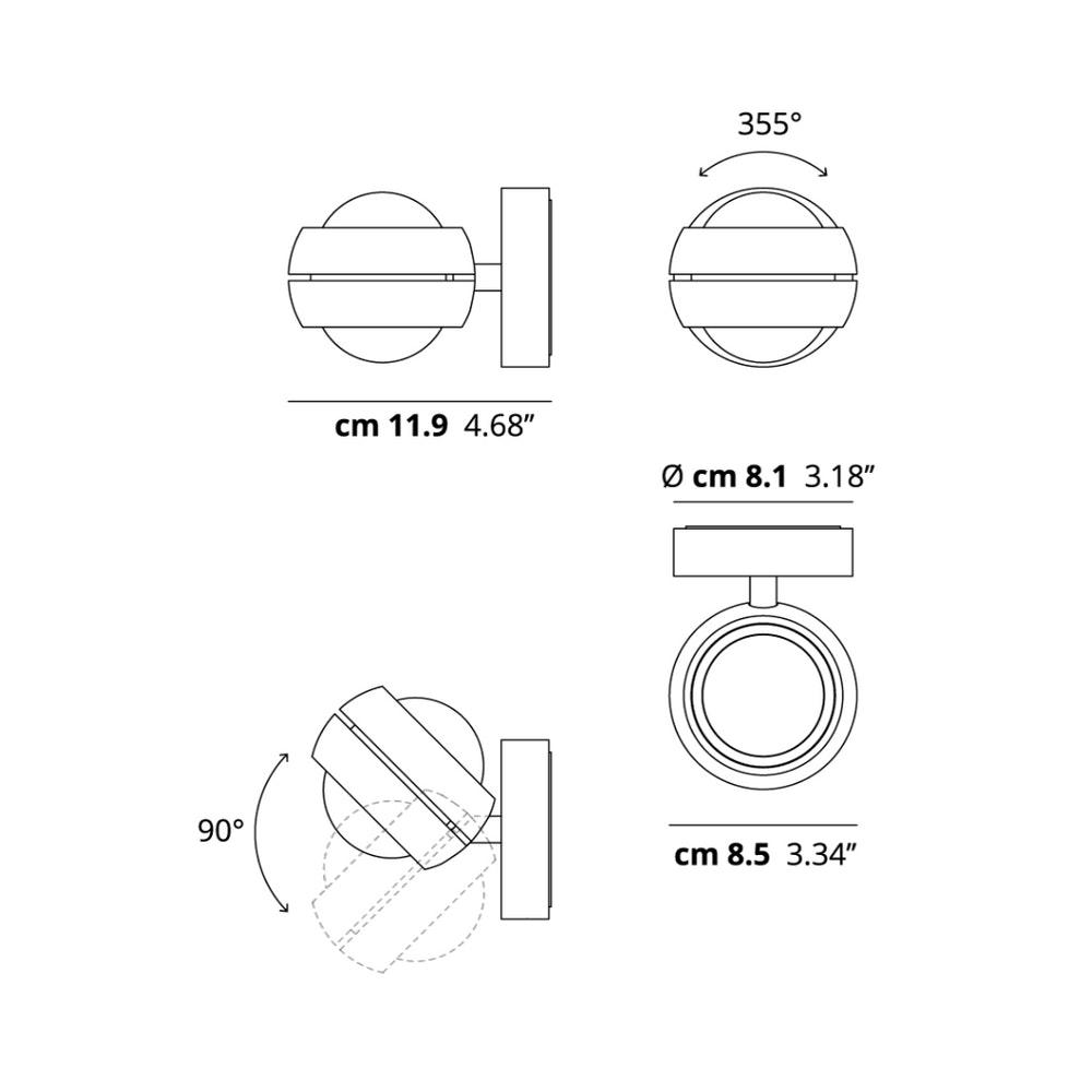 Lodes Nautilus Mini LED Wandleuchte 5