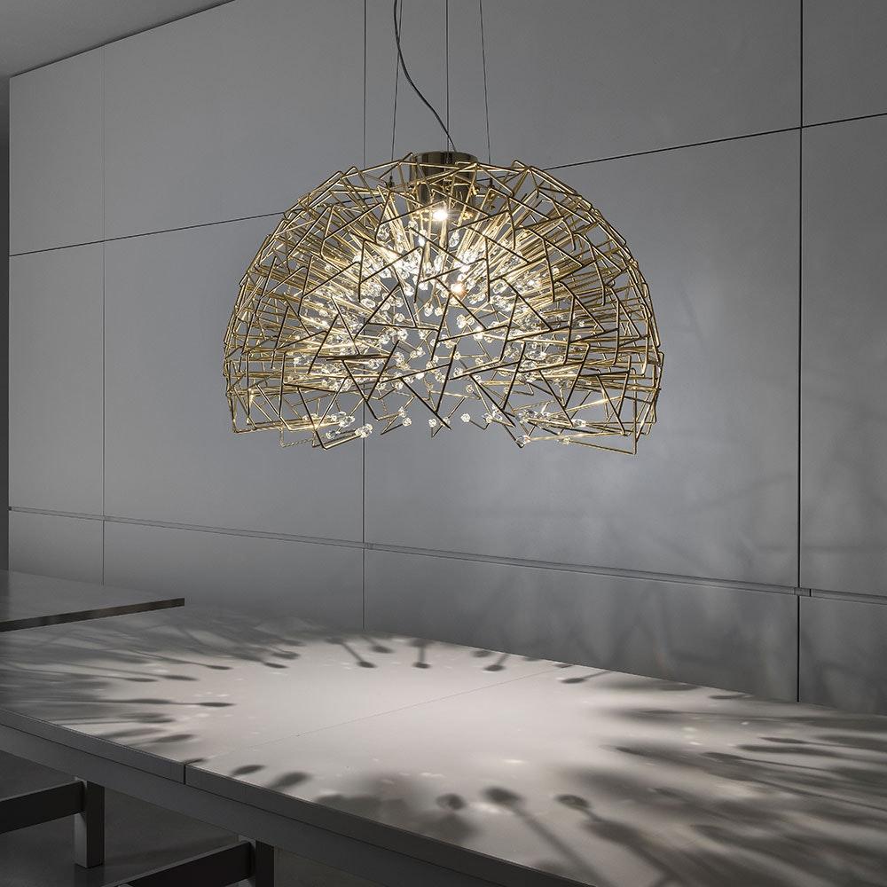 Terzani Core Design-Hängelampe Halbrund Ø 70cm 4