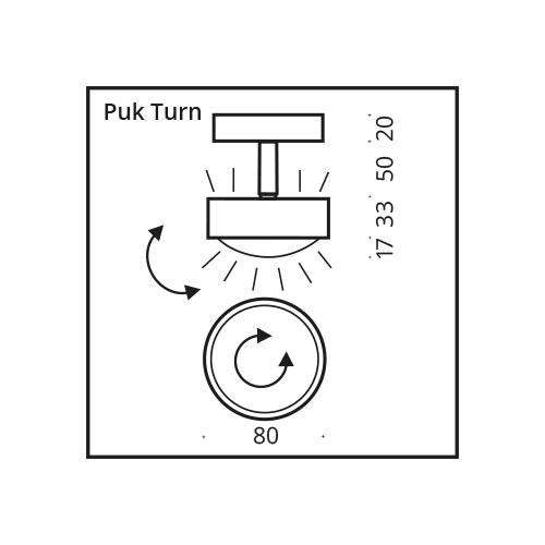 Top Light Deckenspot Puk Turn Up- & Downlight 7