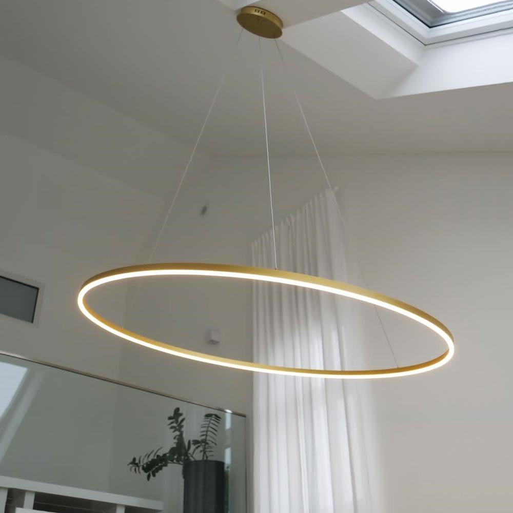 s.LUCE pro LED-Hängeleuchte Ring 3XL Ø 150cm Dimmbar 1