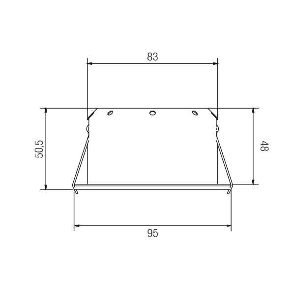 Brumberg LED Decken-Einbauleuchte Indiwo83 Nickel-Matt dim2warm 4