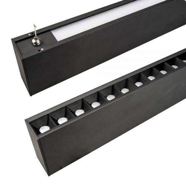 LED Hängeleuchte Up+Down Raster 2900lm schwarz UGR 2
