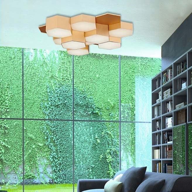 Pettine LED Design Deckenleuchte 43W, 3000K Gold-satiniert 1